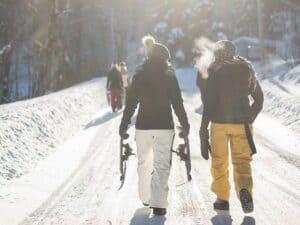 Heated jacket winter