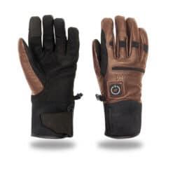 Heated women gloves - brown - HeatPerformance