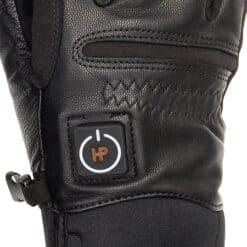 Black heated gloves - golf