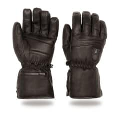 Electric heated skiing glove - leather